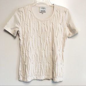 Akris Punto off white short sleeve stretch top 6